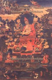 Cover of: Universal Vehicle Discourse Literature (Mahayanasutralamkara) (Treasury of the Buddhist Sciences) |