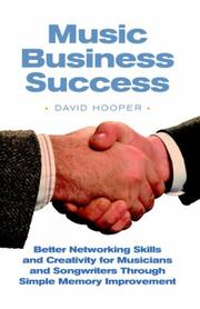 Cover of: Music Business Success | David R. Hooper