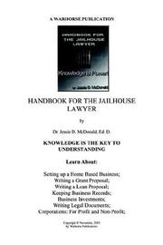 Cover of: HANDBOOK FOR JAILHOUSE LAWYERS | Ed. D., Dr. Jessie Daniel McDonald