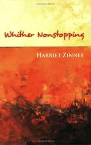 Cover of: Whither nonstopping | Harriet Zinnes