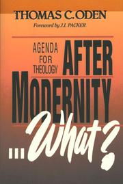 Cover of: After modernity-- what?: agenda for theology