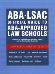 Cover of: Aba - Lsac Official Guide to Aba-approved Law Schools 2008 (Aba Lsac Official Guide to Aba Approved Law Schools) |