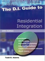 Cover of: The D.I. Guide To Residential Integration