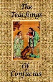Cover of: The Teachings of Confucius