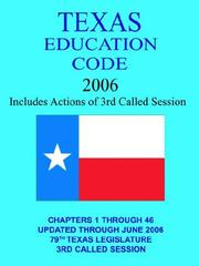 Cover of: Texas Education Code 2005 | Jim, O. Rogers