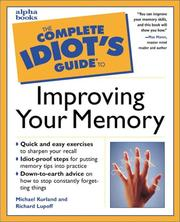 Cover of: The Complete Idiot's Guide to Improving Your Memory