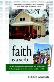 Cover of: Faith is a verb | Chris Goodrich