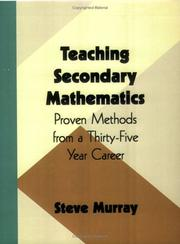 Cover of: Teaching Secondary Mathematics