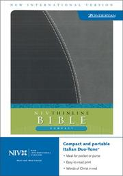 Cover of: NIV Compact Thinline Bible (New International Version) |