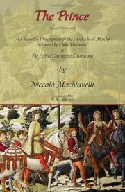 Cover of: The Prince - Special Edition with Machiavelli's Description of the Methods of Murder Adopted by Duke Valentino & the Life of Castruccio Castracani