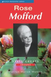 Cover of: Rose Mofford (Acacia Biographies) |