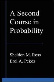 Cover of: A Second Course in Probability | Sheldon, M Ross