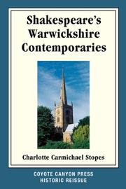 Cover of: Shakespeare's Warwickshire Contemporaries