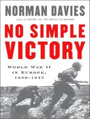 Cover of: No Simple Victory | Norman Davies