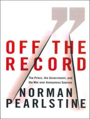 Cover of: Off the Record | Norman Pearlstine