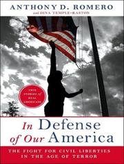 Cover of: In Defense of Our America | Anthony D Romero