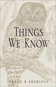 Cover of: Things We Know