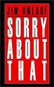Cover of: Sorry About That