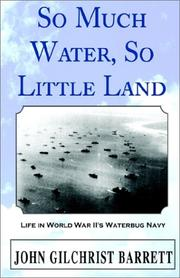 Cover of: So Much Water, So Little Land | John Gilchrist Barrett