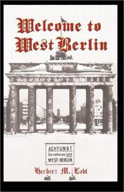 Cover of: Welcome to West Berlin