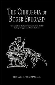 Cover of: The Chururgia of Roger Frugard