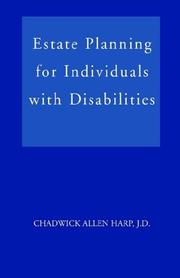 Cover of: Estate Planning for Individuals with Disabilities