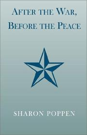Cover of: After the War, Before the Peace