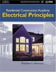 Cover of: Residential Construction Academy Electrical Principles (Residential Construction Academy)