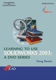 Cover of: Learning to Use SolidWorks 2003