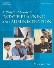 Cover of: A Practical Guide to Estate Planning and Administration
