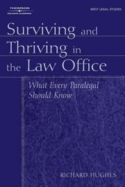 Cover of: Surviving and Thriving in the Law Office