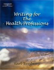Cover of: Writing for the Health Professions
