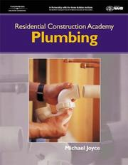 Cover of: Residential Construction Academy Plumbing (Residential Construction Academy)