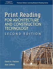 Print Reading for Architecture & Construction (Thomson Delmar Learning Blueprint Reading) by David Madsen, Alan Jefferis