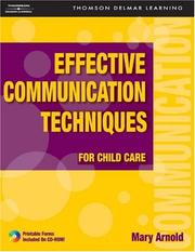 Cover of: Effective Communication Techniques for Child Care