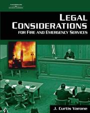 Cover of: Legal considerations for fire and emergency services