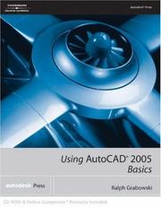 Cover of: Using AutoCAD 2005: Basics: Basics
