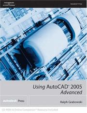 Cover of: Using AutoCAD  2005: Advanced: Advanced