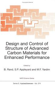 Cover of: Design and Control of Structure of Advanced Carbon Materials for Enhanced Performance (NATO Science Series E:) |