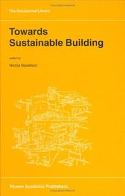 Cover of: Towards Sustainable Building (GeoJournal Library)