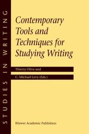 Cover of: Contemporary tools and techniques for studying writing |