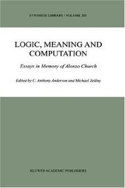 Cover of: Logic, meaning, and computation