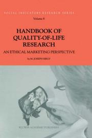 Cover of: Handbook of Quality-of-Life Research