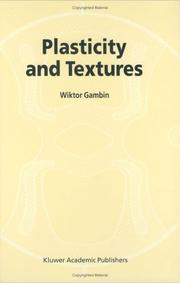 Cover of: Plasticity and Textures