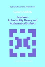 Cover of: Paradoxes in Probability Theory and Mathematical Statistics