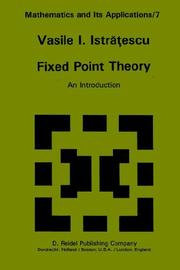 Cover of: Fixed Point Theory