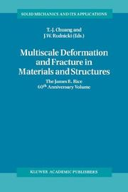 Cover of: Multiscale Deformation and Fracture in Materials and Structures |