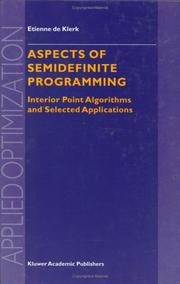 Cover of: Aspects of Semidefinite Programming