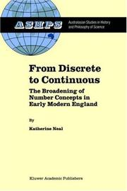 Cover of: From Discrete to Continuous | K. Neal
