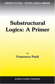 Cover of: Substructural Logics